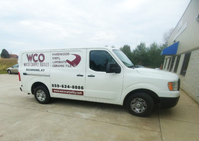 waco carpet outlet's delivery and installation van